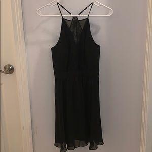 Black BCBGeneration Mini Dress with Lace Details